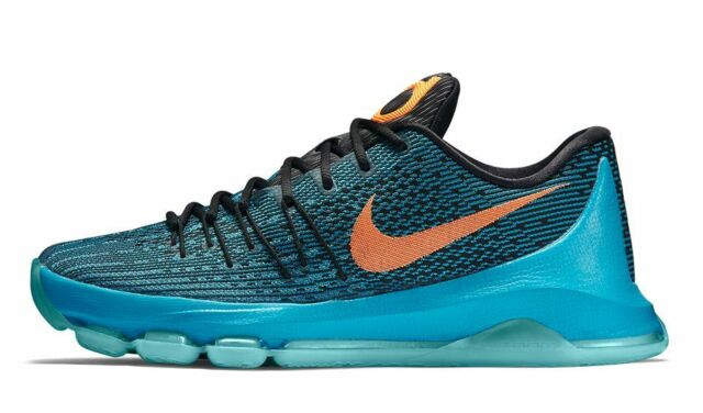 ad213662dd50 Nike KD 8 VIII Sz 10 Blue Lagoon Bright Citrus Black 749375 480 for ...