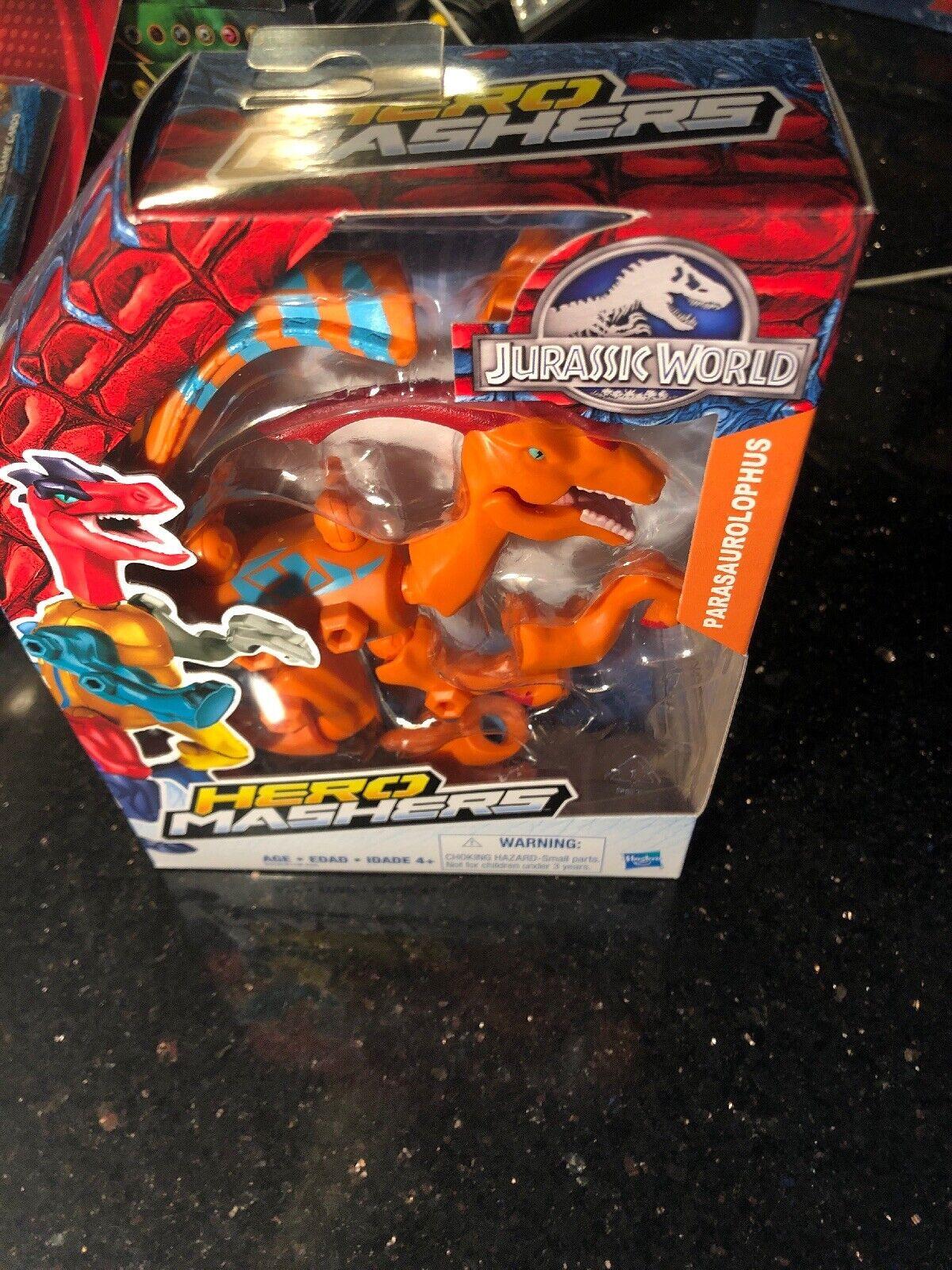 Jurassic World Hero Mashers Parasaurolophus Action Figure Hasbro New