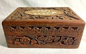 Vintage-Carved-Wood-Trinket-Jewelry-Box-with-Shell-Inlay-Ornate-Hinged