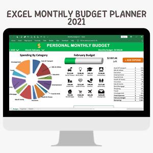 Personal Budgeting Software Excel Budget Spreadsheet Template Checkbook Register Ebay