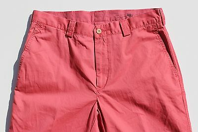 Polo Ralph Lauren 33/30 Slim Nantucket Red 'Suffield' Flat Front Chino Trousers!