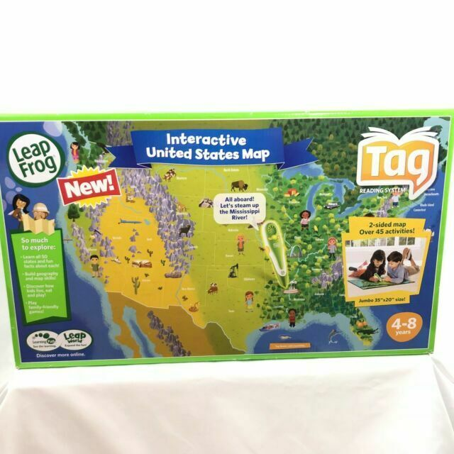 Leapfrog Interactive Us Map LeapFrog Tag Interactive United States Map 2 Sided Jumbo Size 35 X