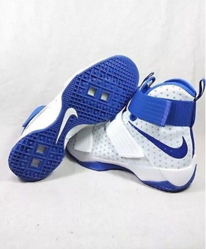 Nike Lebron LBJ Soldier 10 TB Promo Mens 17.5 White Royal bluee 856489 140