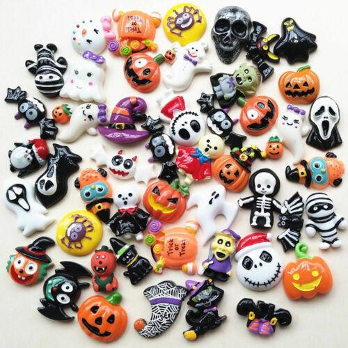 Halloween Pumpkin  Lots  Flatback  Button  Craft  Scrapbook  Resin  Phonecover