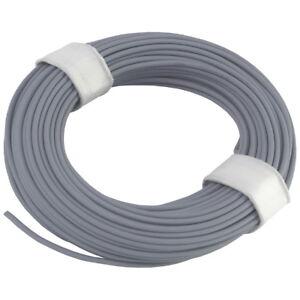 Ring 5m Kupferlitze 2 x 0,14 mm² isoliert Kabel Litze Schaltlitze grau 860274