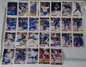 1991-92-Upper-Deck-UD-Quebec-Nordiques-Team-Set-of-26-Hockey-Cards-No-524-529