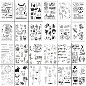 Transparent-Clear-Silicone-Rubber-Stamp-Cling-Diary-Scrapbooking-Card-DIY-Decors