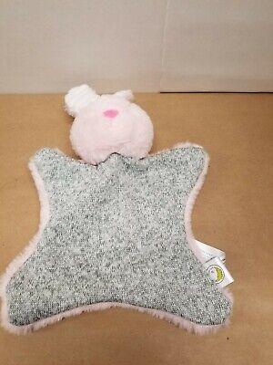 NWT Animal Adventure Gray Elephant Plush Pink Knit Rattle Stuffed Baby Lovey Toy