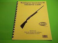 Takedown Manual Guide Remington Sportsman 58 Shotgun, Illustrated, Very Detailed