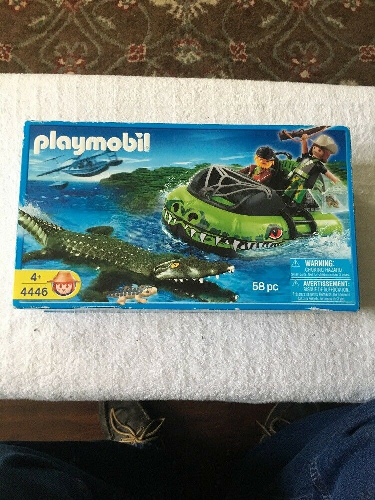 PLAYMOBIL ALLIGATOR HUNTERS HOVERCRAFT 4446 Ages 4+ NEW 2007