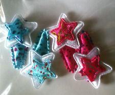Supersüße Haarspangen Blume in Pink//blau mit Glitter 4er Set  Neu und OVP