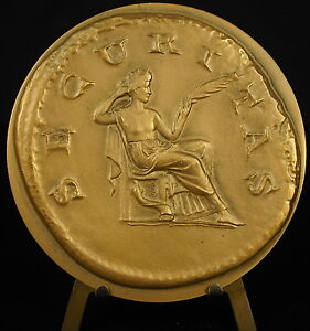 Medaille-a-l-039-antique-82-mm-1975-mutualite-agricole-Securitas-romaine-roman-medal