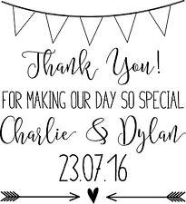 Personalised Wedding Stamp - Bunting Wedding Thank You