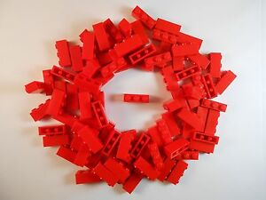 LEGO-1X3-BRICKS-LOT-OF-100-RED-BRAND-NEW-FREE-SHIPPING