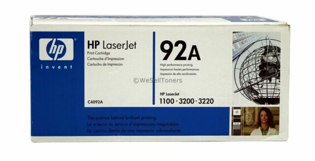 HP C4092A Black Toner Cartridge 92A Genuine New