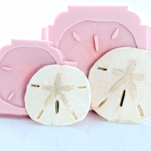 252 Silicone Mold Set 2 Sand Dollar Flexible Molds Clay Resin Fondant Candy