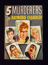 Raymond Chandler 5 Murderers Vintage Mystery, Thriller Paperback Avon 63 RARE!
