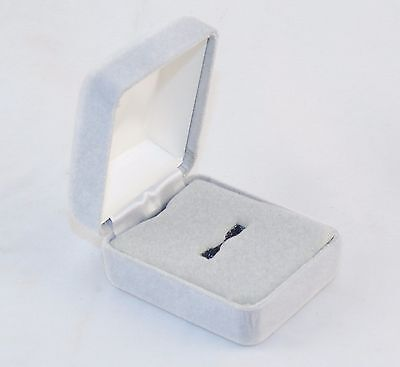 "Metal Shell W/foam Insert ~ #5610010 Outstanding Features 1.75"" X 2.25"" Grey Velvet Ring Gift Box"