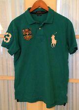 Polo Ralph Lauren Men's Turquoise Shirt Large Big Pony 1967 NY Crest Custom Fit