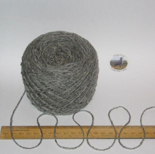 100g ball Grey Tweed 100/% Scottish Wool Double knitting yarn dk Rothesay LOVELY!