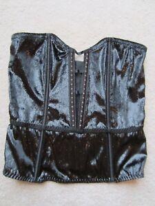 womens victorias secret vs black velvet strapless studded
