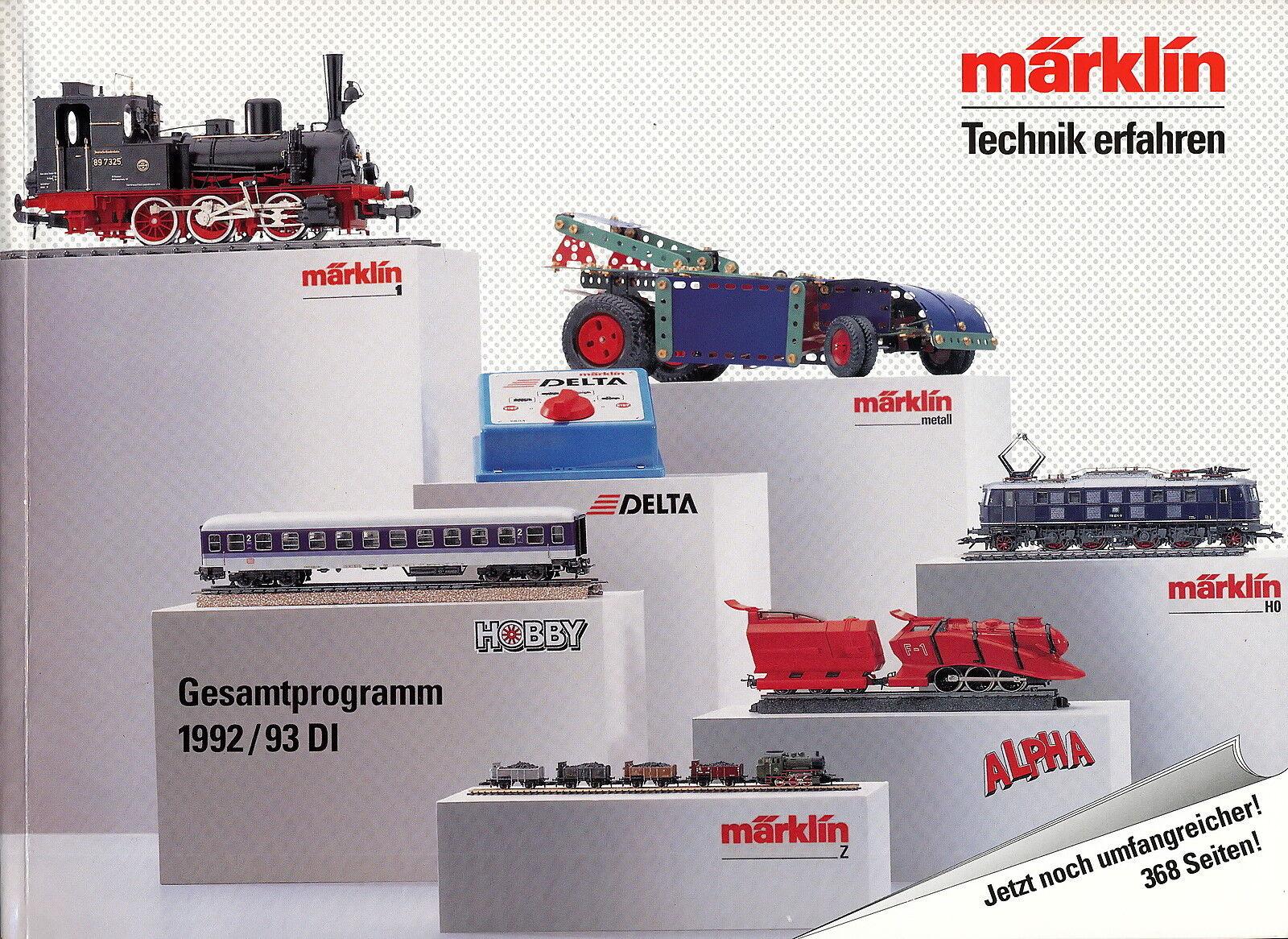Märklin Gesamtprogramm Katalog 1992 1993 372 S. 0,83 kg Marklin Broschüre german