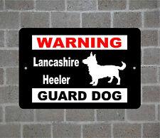 Lancashire Heeler warning Guard Dog breed metal aluminum sign