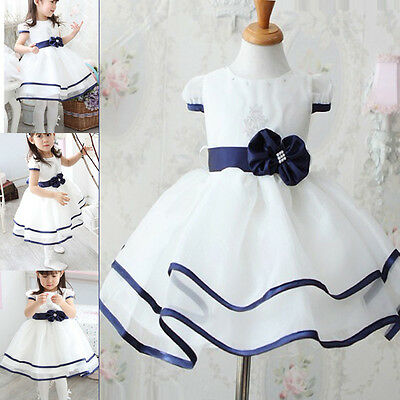 Modern Girls Kids Cool Clothing Formal Party Wedding Prom Dress  6-12 Month Cute