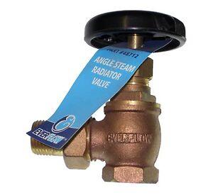 "1"" Hot-Water Steam Radiator Angle Valve Brass by EverFlow ..."