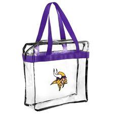 Minnesota Vikings CLEAR Messenger Tote Bag Purse - Meets Stadium Security Reqs