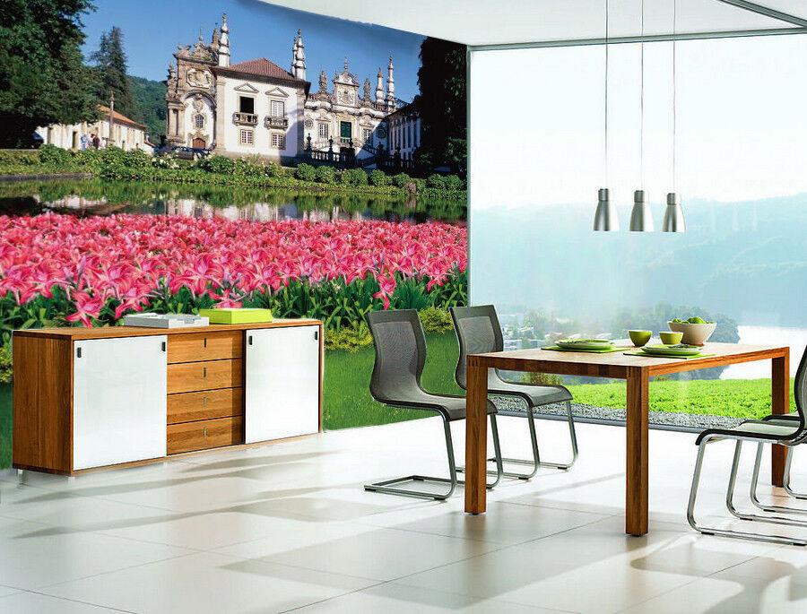 3D Garden Castle 86 Wall Paper Murals Wall Print Wall Wallpaper Mural AU Summer