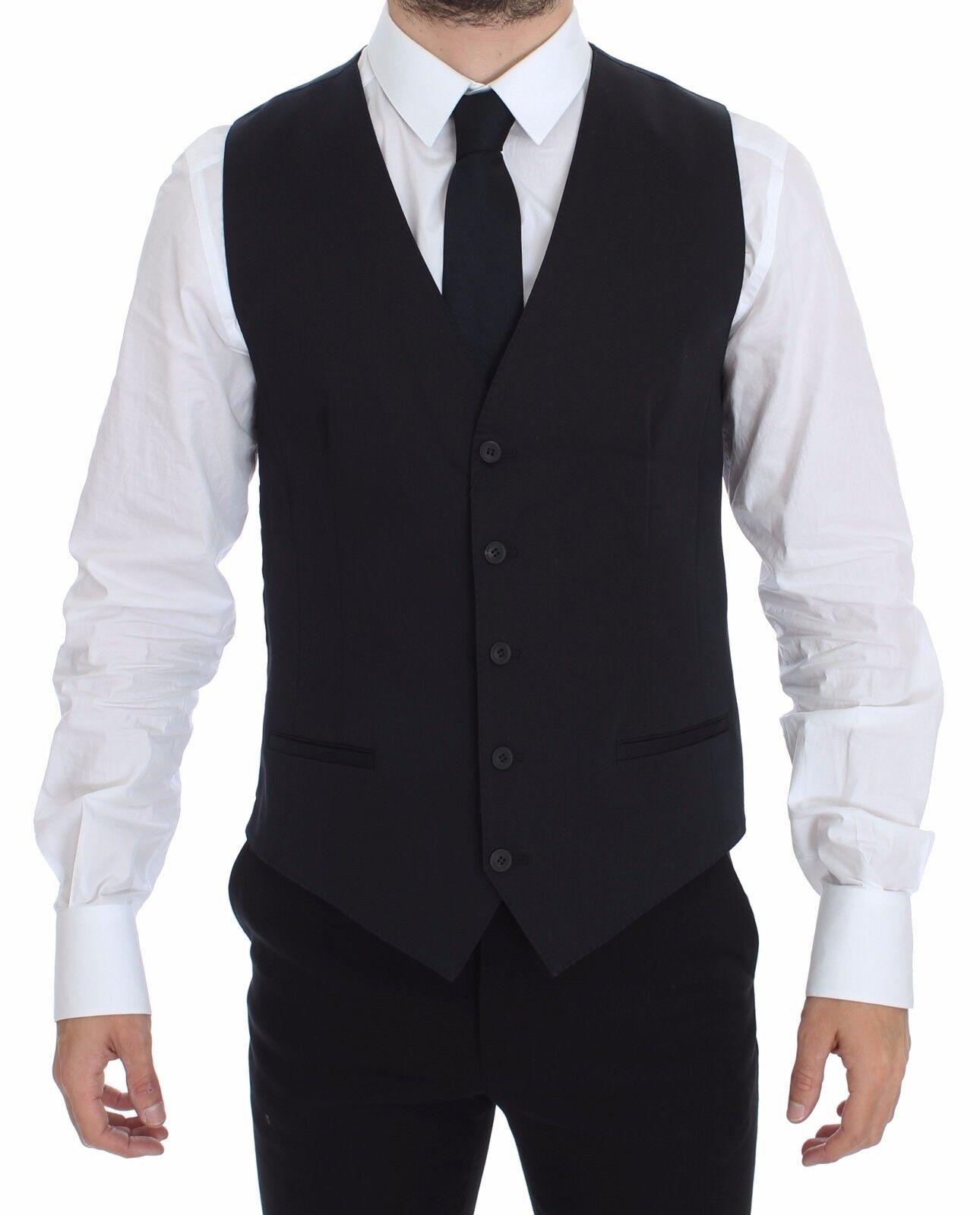 NWT 460 DOLCE & GABBANA Blau Cotton Stretch Dress Vest Blazer IT46/ US36 / S