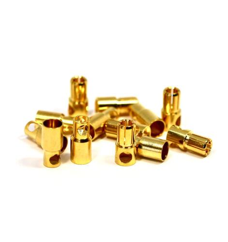 3 Paar 6 Stück 6mm Goldstecker Stecker Buchse Connector Plug Motor ESC Lipo CAR