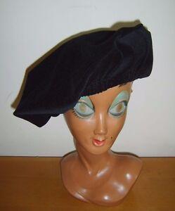 Acheter Pas Cher Noir Velours Médiéval Chapeau Béret Tudor Renaissance Artiste Costume Robe Fantaisie Neuf-afficher Le Titre D'origine