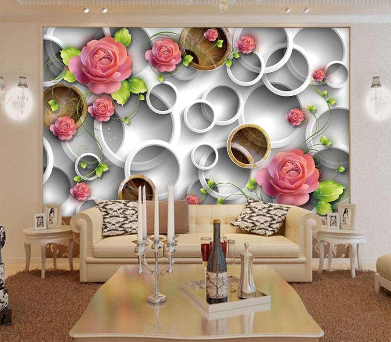 Novel Dazzing Peony 3D Full Wall Mural Photo Wallpaper Printing Home Kids Decor