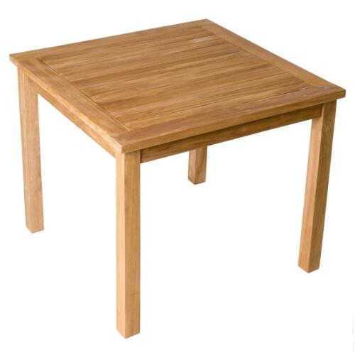 DIVERO Esstisch Gartentisch Balkontisch Terrassentisch Tisch Holz Teak 90x90cm