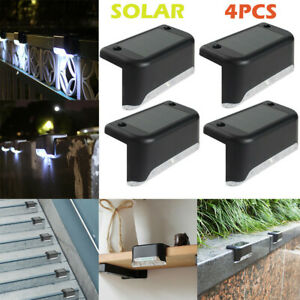 4PCS-LED-Solar-Path-Stair-Outdoor-Light-Garden-Fence-Landscape-Lamp-Lights-Decor