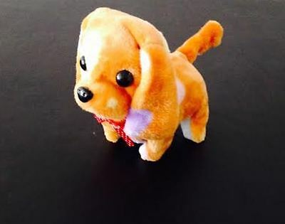 NEW KID'S BATTERY OPERATED BARKING WALKING WAGGING CUTE LIGHT BLUE PUPPY DOG TOY