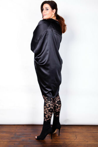 Plus taille noir stretch sheer lace leggings taille 16-26