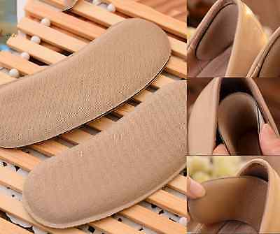5 Pairs Soft Sticky Fabric Shoe Back Heel Inserts Insoles Pads Foot Care Cushion