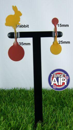 pk01 4 objectifs métal sur 2 double acier spinners de ball-trap plinking