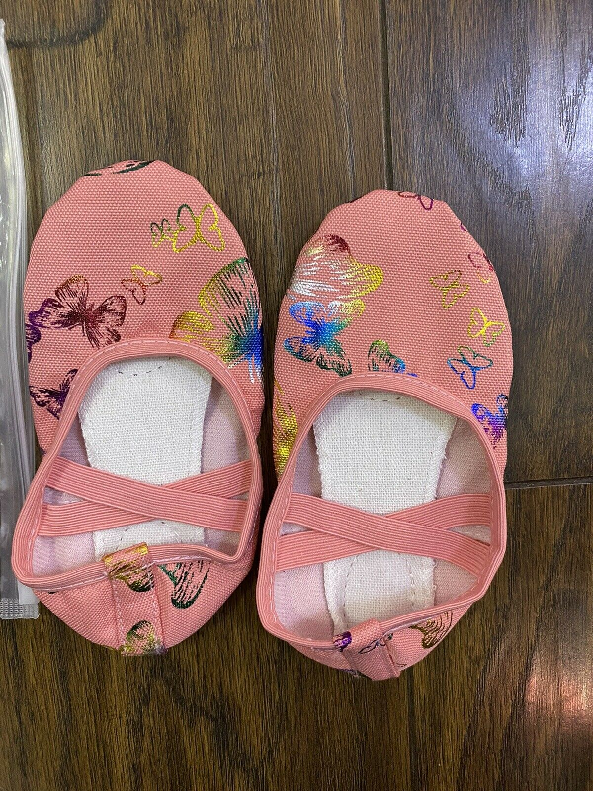 Kids Soft Sole Ballet Dance Shoes Butterfly Feet Length about 15.5cm
