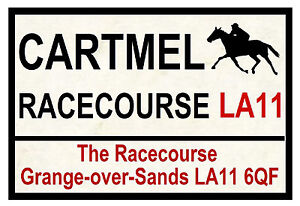 HORSE RACING ROAD SIGNS (CARTMEL) - FUN SOUVENIR NOVELTY FRIDGE MAGNET - GIFT