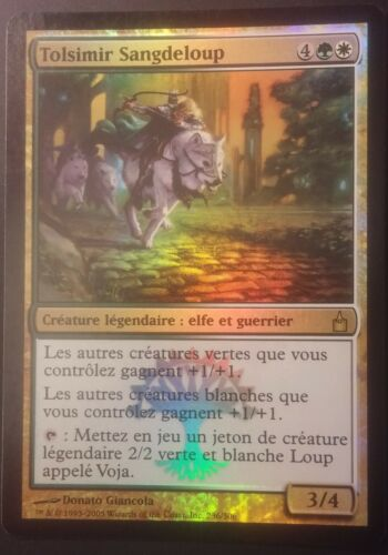 FOIL Tolsimir Sangedeloup VF PREMIUM French Wolfblood Magic Mtg