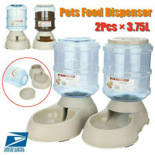 2x Automatic Pet Feeder Water Dispenser Detachable Dog Cat Drinker Feed Machine