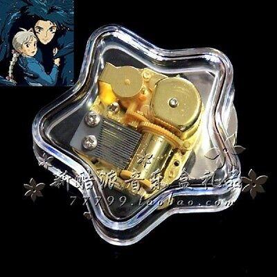 Transparent Star Wind Up Music Box : Ghibli Howl's Moving Castle Soundtrack