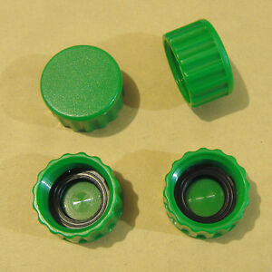 Lot Of Four Plastic Garden Hose End Caps With Hose Washer