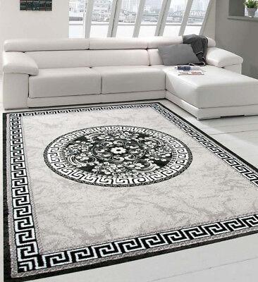 Rug Flat Flor Ornaments Oriental Grey Modern Living Room