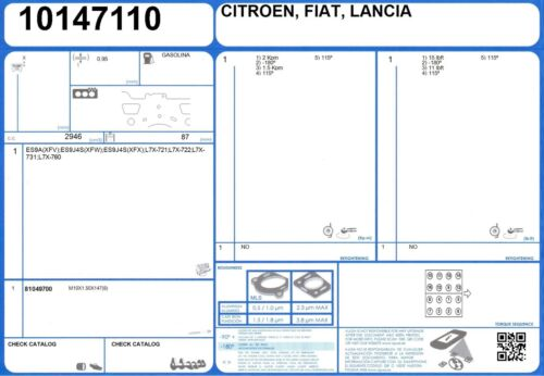 Une culasse Boulon Set CITROEN C6 V6 24 V 2.9 211 ES9J4S 9//2005 - XFX