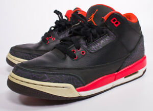 837cccb4da493 Nike Air Jordan III 3 Retro GS Black Bright Crimson Youth 398614-005 ...